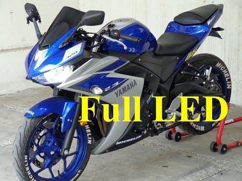 Yamaha R3 · Full LED Y Smocked Windshield ·
