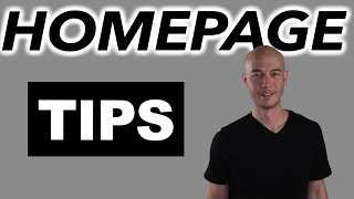 Homepage Tips for Amazon Affiliate Sites (what NOT to do)