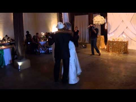 Ebony and her Dad - bride and father dance
