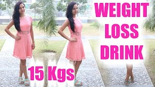 Loose 15kgs in 4 weeks | Detox & Weight Loss Drinks | PrettyPriyaTV