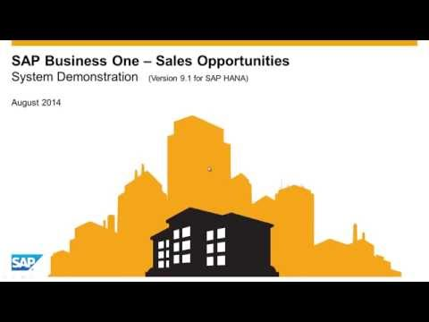 SAP Business One Demo Video - Sales Opportunities