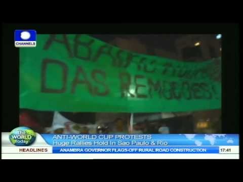 The World Today: Police In Brazil Disperse Anti-World Cup Protests With Tear Gas 16/05/2014