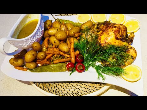 WHOLE ROASTED CHICKEN | مرغ داشى  كباب مرغ