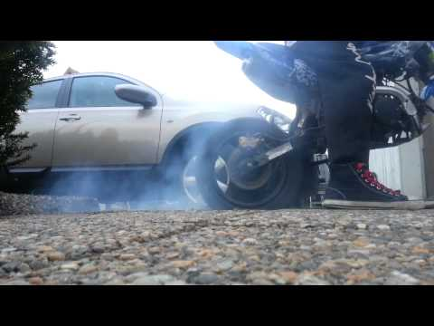 Burnout With My Orion 125cc Dirtbike