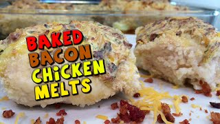 Baked Bacon Chicken Melts Recipe