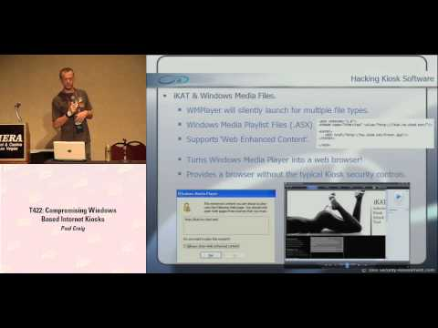 DEF CON 16 - Paul Craig: Compromising Windows Based Internet Kiosks