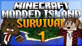 "Minecraft Survival Island Mods Ep. 1 ""MEROME THE GOAT"" w/ BajanCanadian! | JeromeASF"