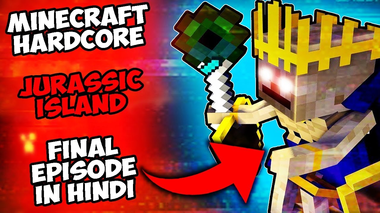 Download Minecraft Hardcore but its Jurassic Island Final Episode in HINDI | 100 Days Story Survival