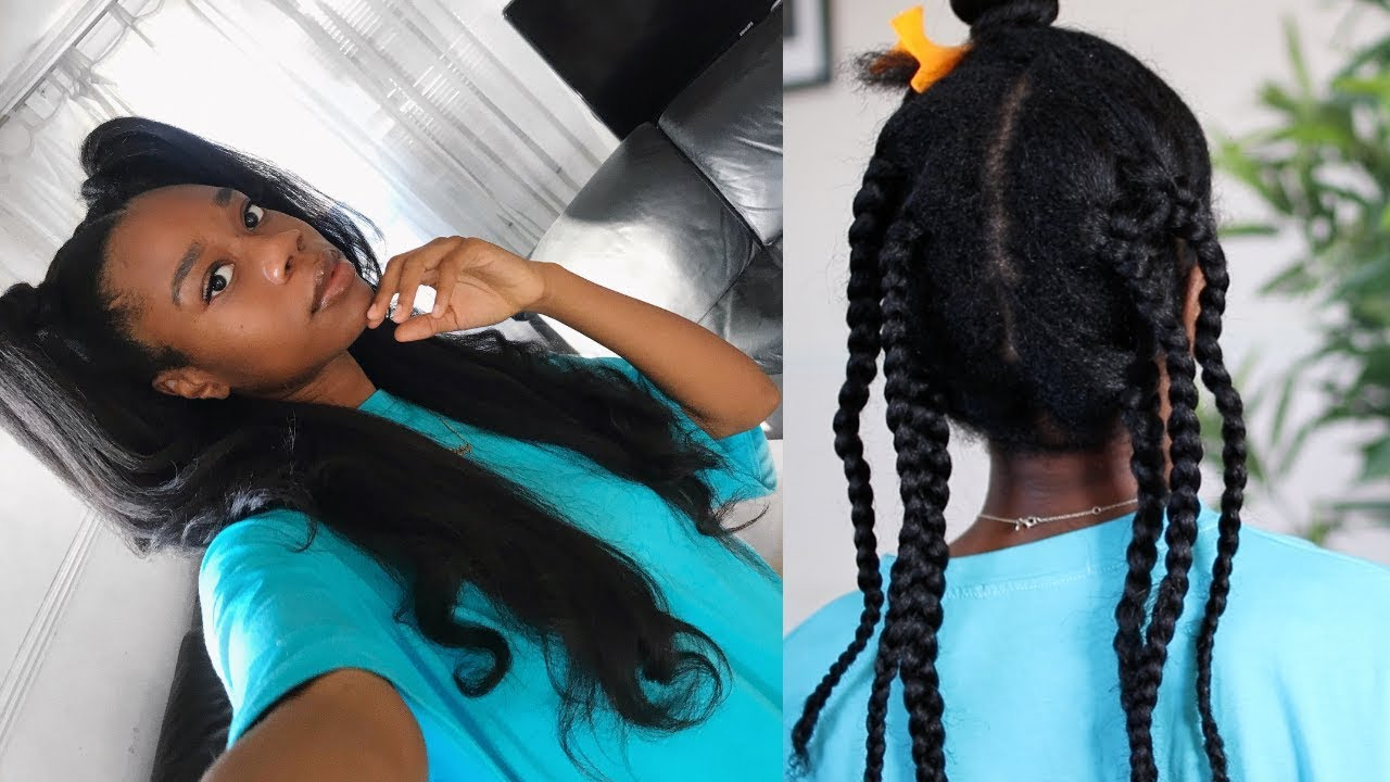REALISTIC KINKY STRAIGHT HAIR FOR TYPE 4 NATURAL HAIR! | 90s HAIRSTYLE!
