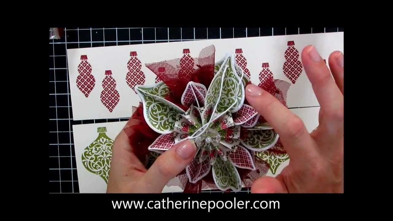 Stampin' Up Holiday Mini Catalog Ornament - YouTube