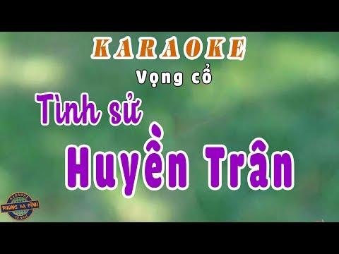 Karaoke | Tình Sử Huyền Trân | song ca (full beat)