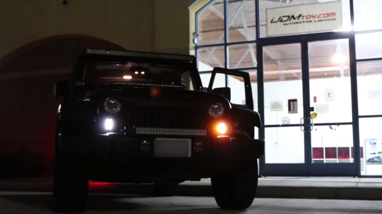 iJDMTOY Jeep Wrangler LED Daytime Running & Turn Signal Lights