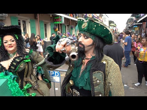 Mardi Gras 2018 Bourbon Street 4k