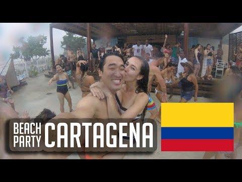 Crazy Rainstorm Party on Cartagena's Fenix Beach (vlog #70)