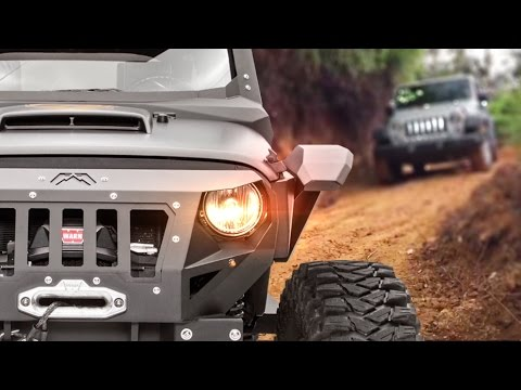 Jeep Wrangler Epic Off Road Trail and River Crossing Experience in Coamo, Puerto Rico. JL