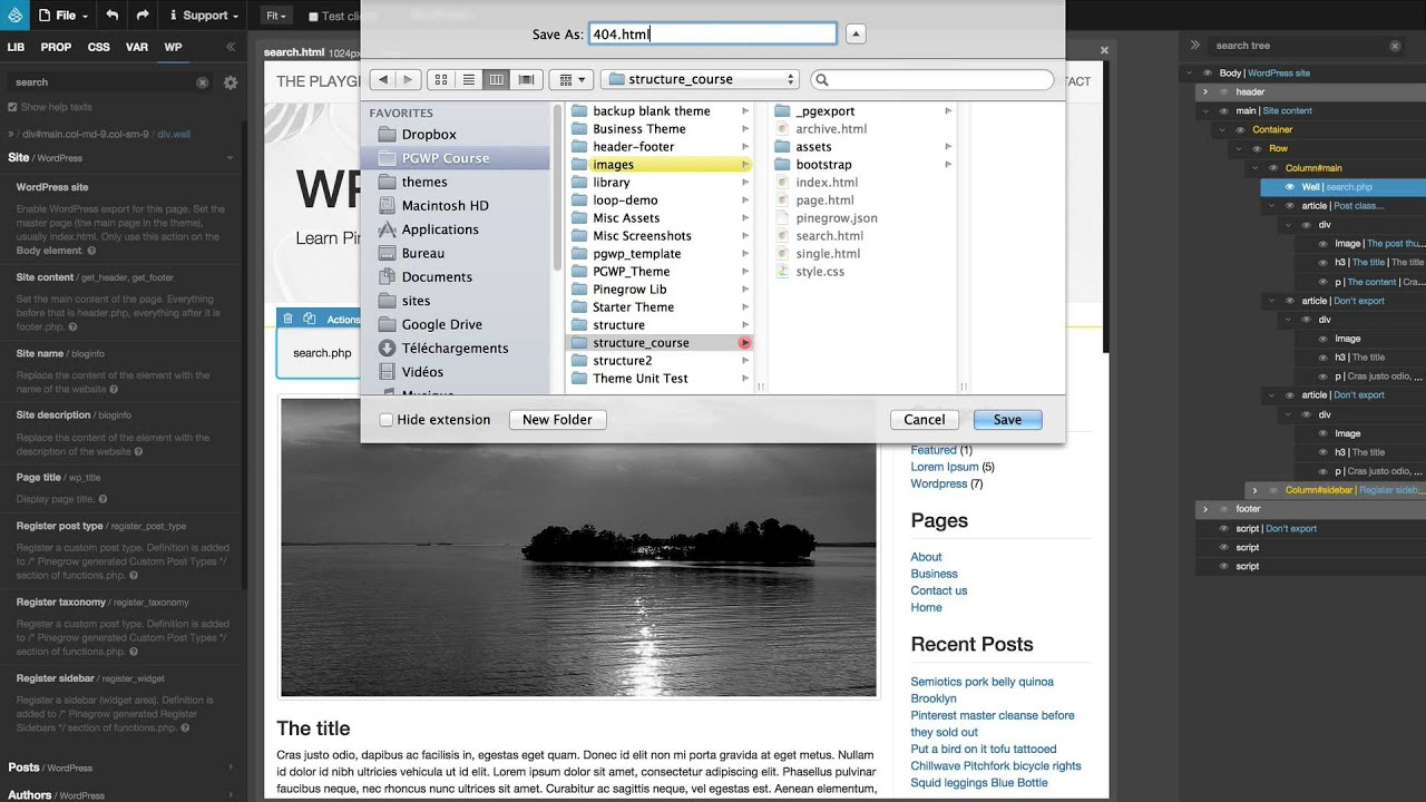 11 create a new wordpress template from the index page for Create a new page template wordpress