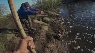 Рыбалка на подъёмник,паук,кишит рыбы, не смог поднять паук