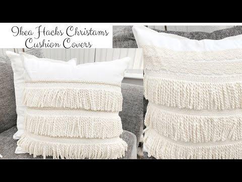 Christmas Home Decor 2018- Ikea Hack Cushion / Throw Pillow Cover For Christams