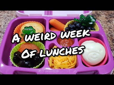 Week of Lunches - What She Ate - School Bento Lunches - Bella Boo's Lunches
