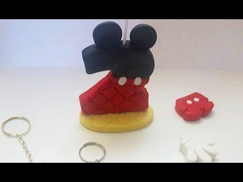 Vela do Mickey em biscuit