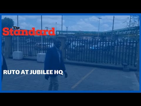 Dp Ruto visits Jubilee HQ for the second time in two days