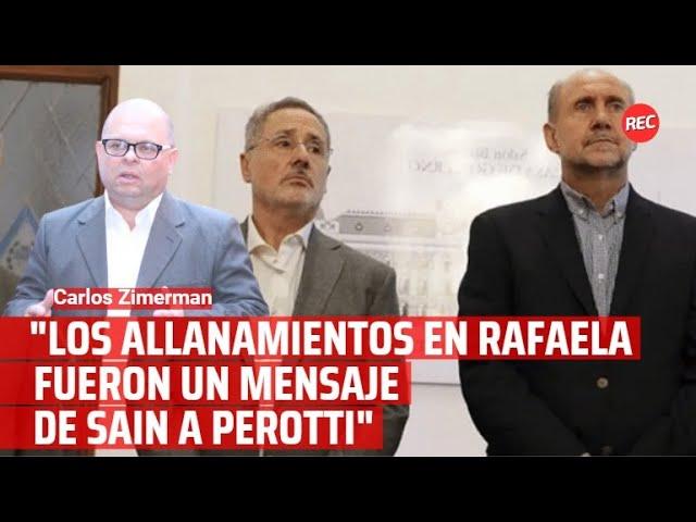 """""""Los allanamientos en Rafaela fueron un mensaje de Sain a Perotti"""""""