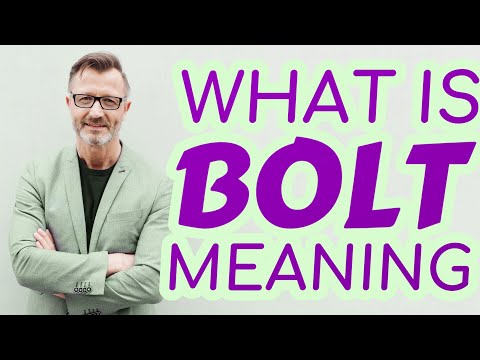 Bolt Meaning Of Bolt Youtube