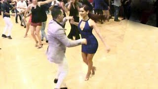 Michelle Morales social salsa dancing @ Seattle Congress!