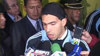 TV AZTECA DEPORTES EN SUDAMERICA-ECUADOR 2 - ARGENTINA 0  AYOVI (ECU) Y TEVEZ (ARG)