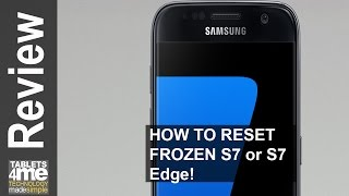 How to reboot a frozen Samsung Galaxy S7 or Samsung Galaxy S7 edge.