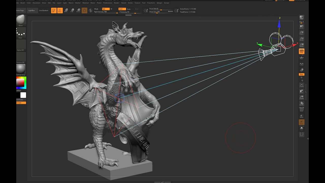 Zbrush 2019 - How to use new Zbrush Camera with 3ds Max (2019 updates)