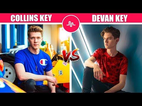 Best - Collins Key VS Devan Key  ( Magician Vs Muser ) Musically Compilation 2018