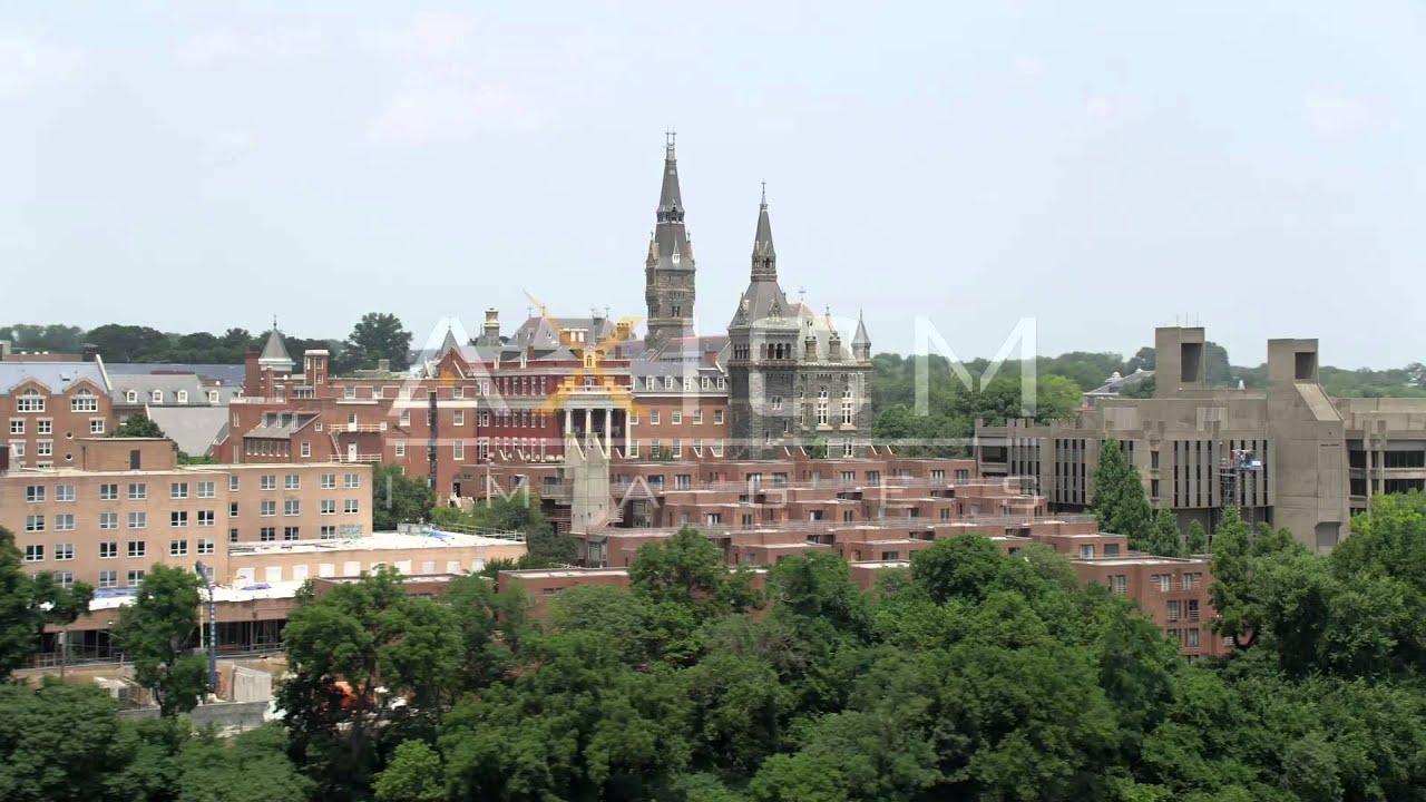 georgetown university aerial stock footage videos ax74