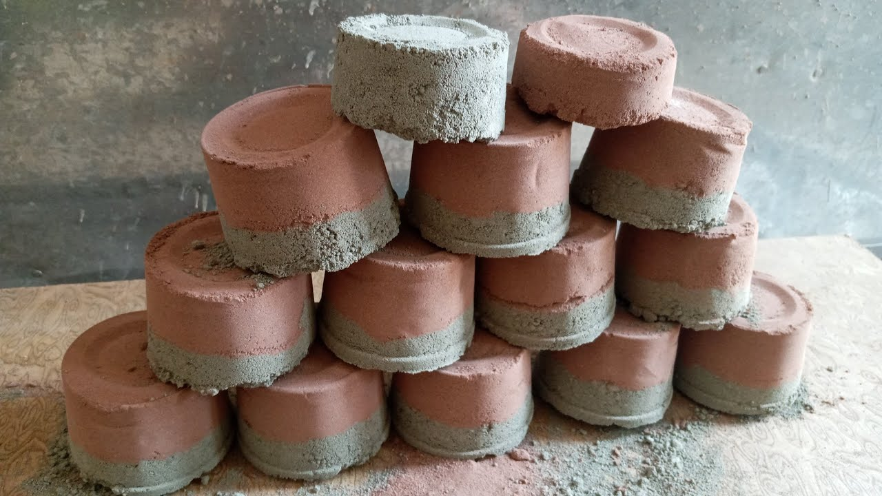 ASMR - Red Brick Dirt and Grey Clay Combination | Combination Series|Episode :1