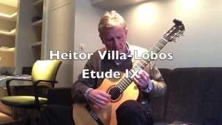 Heitor Villa-Lobos Etude IX by Bruno Schoenaerts on classical guitar