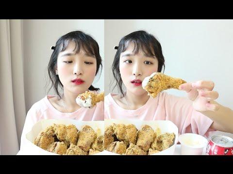 뿌링클치킨 먹방 _ 또 먹는 BHC 뿌링뿌링 뿌링클♡♡♡ ,치킨먹방, チキン, chicken Mukbang, Eating show :D