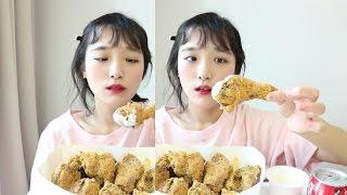 뿌링클치킨 먹방 또 먹는 bhc 뿌링뿌링 뿌링클 치킨먹방 チキン chicken mukbang eating show d
