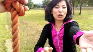 1050708和太太一起體驗北海道羊蹄山自然公園內的『溜索』