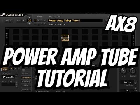 Fractal Audio AX8: Power Amp Tube Tutorial [EL34; 6L6; KT66; KT88; Ideal Pentode/Tetrode & More!]