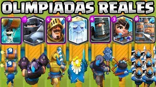 OLIMPIADAS REALES | LA MEJOR CARTA REAL? | RETO CLASH ROYALE | Clash Royale Royal Olympics