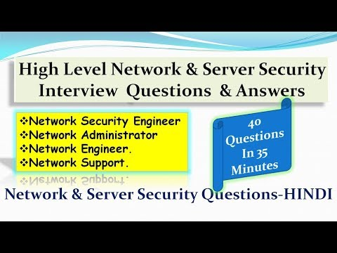 High Level Network & Server Security Interview  Questions  & Answers - HINDI