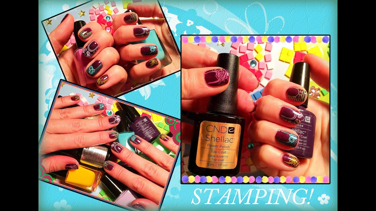 CND Shellac Plum Paisley Combinations - YouTube