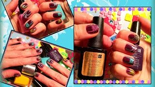 Стемпинг на Гель Лак с пластиной MoYou London PRO COLLECTION 13 (Stamping nail art +Shellac CND).(, 2016-02-02T07:51:23.000Z)