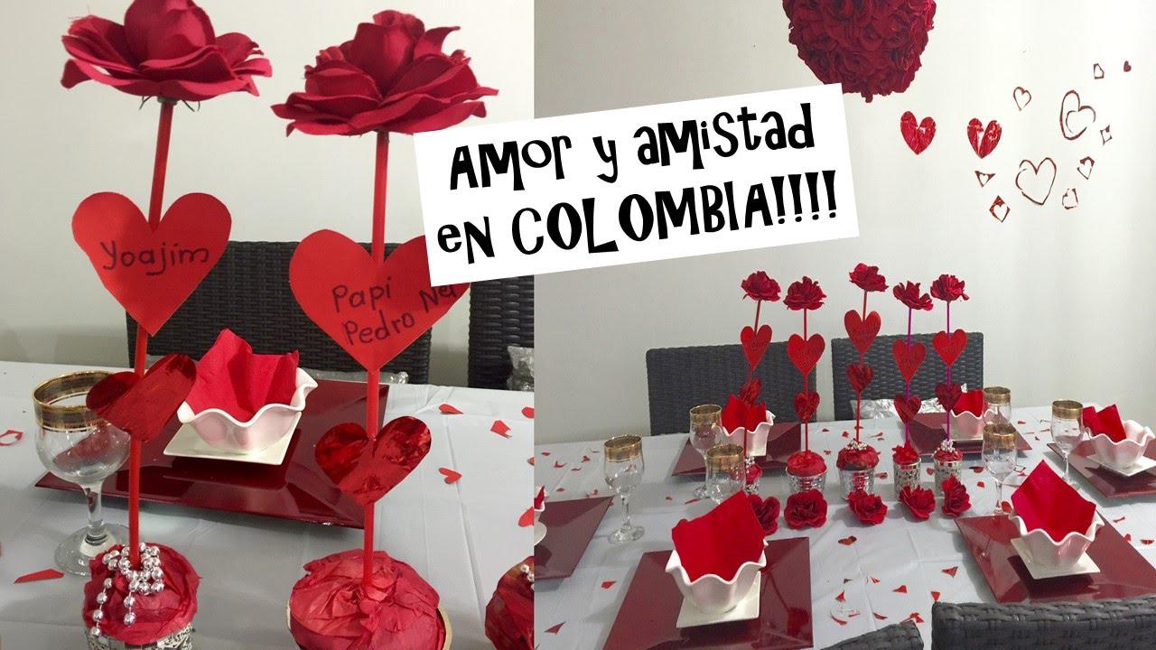 AMOR Y AMISTAD en COLOMBIA (san VAlentin) valentines day of love. Mi ...