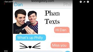 Phan texts Dan and Phil