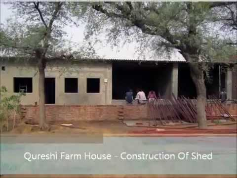 Constructing shed for goat farming by akbar qureshi farm for Cost to build farmhouse