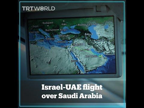 First Flight From Israel To UAE Flies Over Saudi Arabia