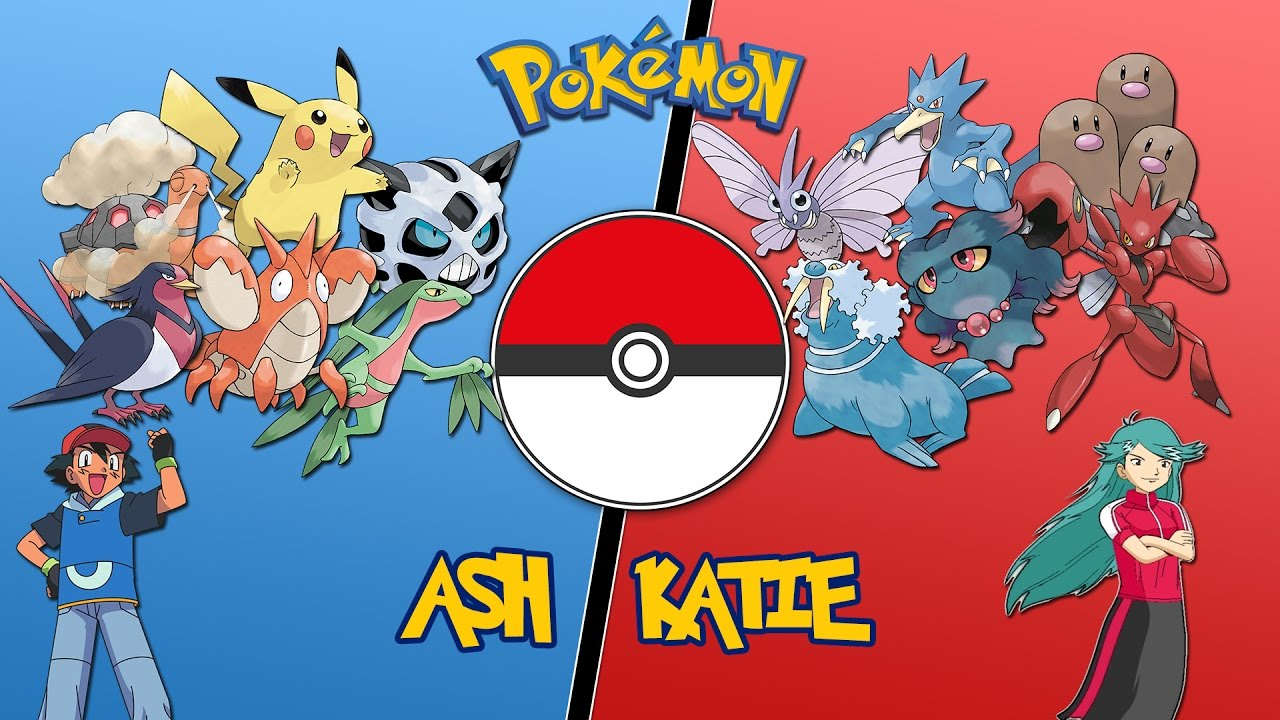 ash vs katie hoenn league pokemon battle revolution
