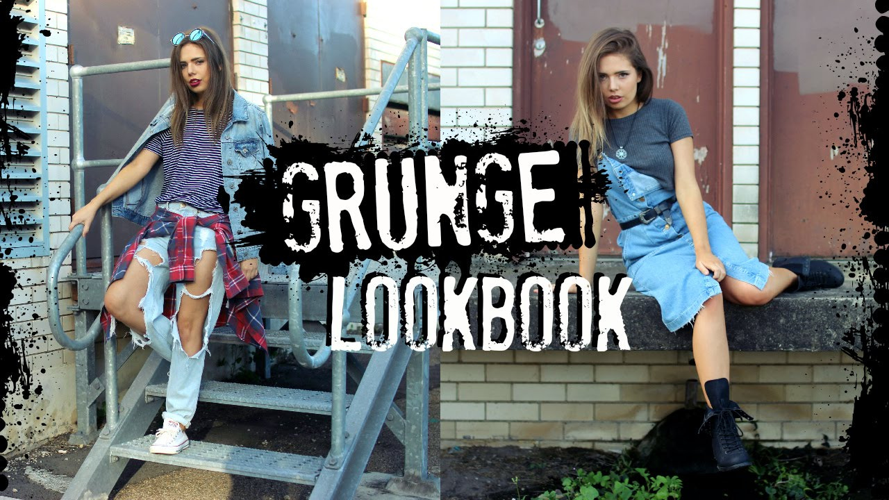 Street Style Lookbook Grunge Inspired Outfits Youtube