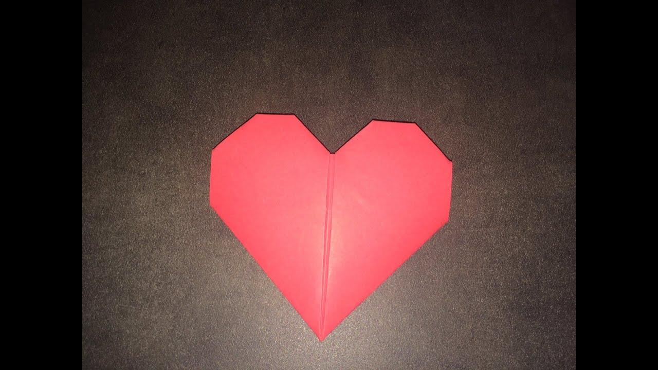 tuto origami le coeur facile youtube. Black Bedroom Furniture Sets. Home Design Ideas